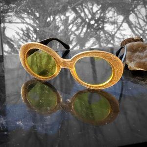 Gold Glitter Glasses